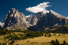 Lankoffel mountain range. View from Seiser Alm, Dolomites, Italy Royalty Free Stock Photos