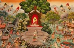 lanna泰国绘画的样式 库存照片