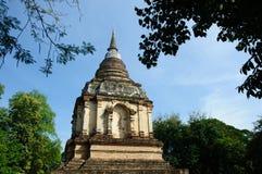 Lanna alte Pagode im siamesischen Tempel Stockbilder