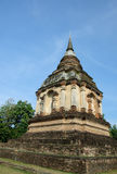 Lanna Ancient Pagoda In Thai Temple Stock Photos