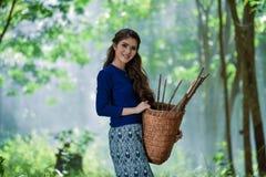 Lanna Lady Stock Photo