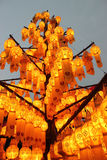 Lanna lamp popularly used for decoration in the north of Thailan. D Royalty Free Stock Photo