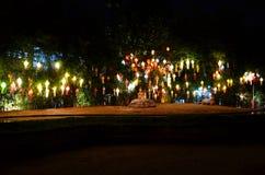 Lanna lampiony, Tajlandzki styl lampiony przy Loi Krathong festiwalem ja Fotografia Stock