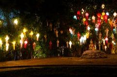 Lanna lampiony, Tajlandzki styl lampiony przy Loi Krathong festiwalem ja Zdjęcie Stock