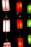 Lanna lampiony, Tajlandzki styl lampiony przy Loi Krathong festiwalem ja Obraz Royalty Free