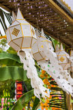 Lanna lantern in Chiangmai Thailand Stock Photos