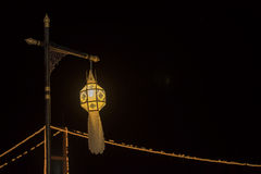 Lanna lantern, lanterns thai style decoration at Loi Krathong Sai Festival Tak, Thailand. Royalty Free Stock Photo