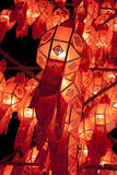 Lanna lanterns. Lanna lantern in the nighttime Stock Images
