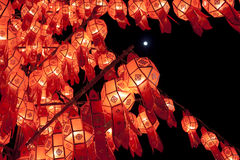Lanna lanterns. In the nighttime Royalty Free Stock Photo