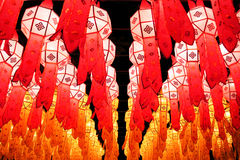 Lanna lanterns. In Loy Krathong festival Royalty Free Stock Photos