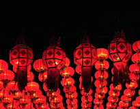 Lanna lanterns in the nighttime Stock Image