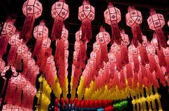 Lanna lanterns,Thai Style of Lanterns at Loi Krathong festival i Royalty Free Stock Photography