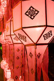 Lanna lanterns,Thai Style of Lanterns at Loi Krathong festival i Stock Photos