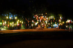 Lanna lanterns,Thai Style of Lanterns at Loi Krathong festival i Stock Photography