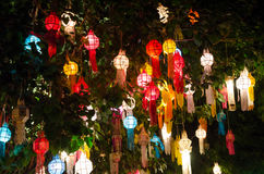 Lanna lanterns,Thai Style of Lanterns at Loi Krathong festival i Stock Images