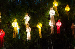 Lanna lanterns,Thai Style of Lanterns at Loi Krathong festival i Stock Photo