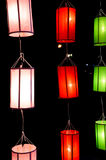 Lanna lanterns,Thai Style of Lanterns at Loi Krathong festival i Royalty Free Stock Image