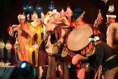 Lanna local wisdom concerning the Klong Sabad Chai Drum beat . BANGKOK THAILAND - JANUARY 27 , 2017 : Unidentified Klong Sabad Chai dance is Northern royalty free stock images