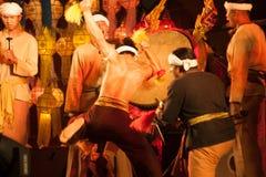 Lanna local wisdom concerning the Klong Sabad Chai Drum beat . BANGKOK THAILAND - JANUARY 27 , 2017 : Unidentified Klong Sabad Chai dance is Northern royalty free stock photography