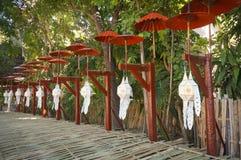 Lanna papierowy lampion, Tajlandia Fotografia Stock