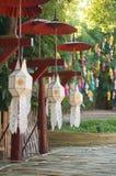 Lanna papierowy lampion, Tajlandia Obraz Stock