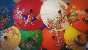 Lanna paraply Arkivfoton
