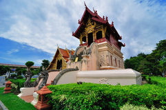 Lanna the scripture library of Wat Phra Sing Royalty Free Stock Photography