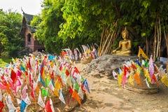 Lanna Songkran Festival på Wat Phan Tao, Chiang Mai Arkivbild