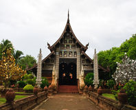 Lanna style church. Church of Wat Lok Moli with Thai Lanna style Stock Photo