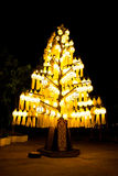 Lanna style lamp. Take from public park in Chiangrai Province,Thailand,made from Lanna style Royalty Free Stock Images