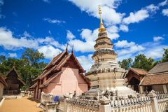 Lanna style temple in thailand Stock Image