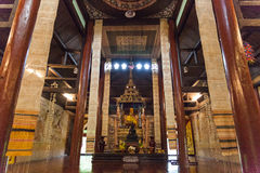 Lanna style wooden temple in thailand Royalty Free Stock Photo