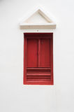 Lanna style wooden window. Old doors, Traditional Thai Lanna style wooden latch on white background with clipping path stock photo