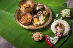 Lanna stylowy Północny Tajlandzki jedzenie, Thailand Asia fotografia stock