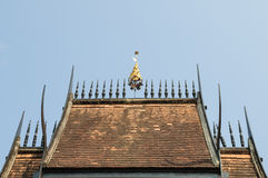 Lanna temple roof Royalty Free Stock Image