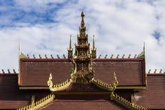 Lanna Ubosoth in Chiangmai, Thailand Royalty-vrije Stock Afbeeldingen