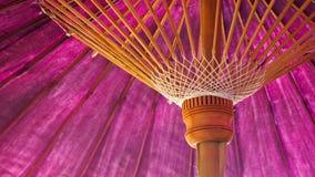 Lanna umbrella. Purple lanna umbrella in the north of Thailand Royalty Free Stock Image