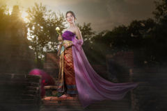 Lanna woman  Royalty Free Stock Images