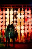Lanna Yi Peng Lanterns colorida en el festival de Loy Krathong de la ji fotografía de archivo libre de regalías