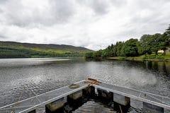 Lanndscapes Loch Ness i port arthur w średniogórzach, Scotland Fotografia Stock