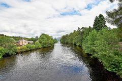 Lanndscapes of Loch Ness and Port Arthur in the highlands, scotland Royalty Free Stock Photo