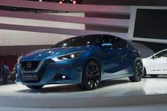 lannia van Peking autoshow Nissan van 2014 Stock Afbeeldingen