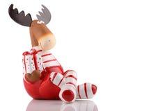 Élans de Noël Photographie stock libre de droits