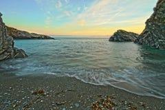 Lansallos-Bucht Stockbild