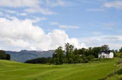 lanscape农村的挪威 免版税库存图片