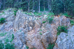 Lanscape του βουνού του απότομου βράχου βράχου Στοκ Εικόνες