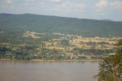 Lanscape του ποταμού Μεκόνγκ, Nong Khai, Ταϊλάνδη Στοκ φωτογραφίες με δικαίωμα ελεύθερης χρήσης