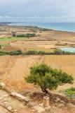 Lanscape alla città Kourion Limassol Cipro del greco antico Fotografia Stock
