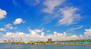 Lanscape avec Miami Image stock