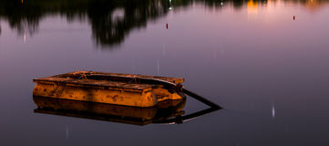 Lanscape. The boat on the lake Stock Photos